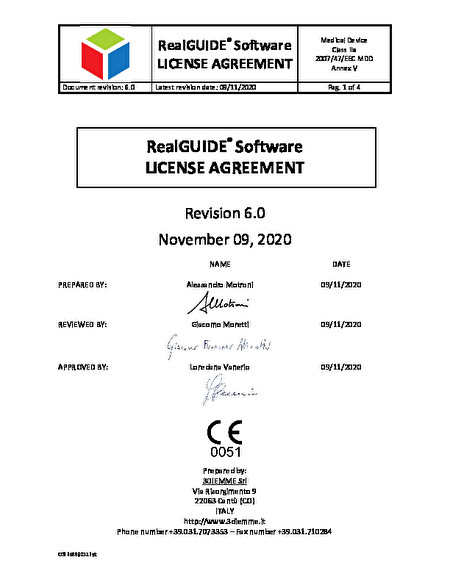 RealGUIDE Software License Agreement